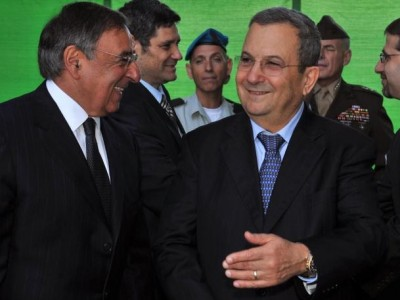 Leon Panetta and Ehud Barak