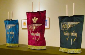 Torah Covers (2011) by Mark Podwal Fabricated by Penn and Fletcher Courtesy Yeshiva University Museum