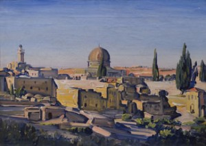 Jerusalem, Temple Mount (1928) oil on canvas by Ludwig Blum. Courtesy Museum of Biblical Art