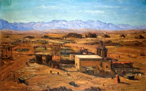 Timna, Copper Mines (1957) oil on canvas by Ludwig Blum. Courtesy Museum of Biblical Art