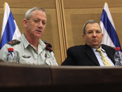 .IDF Chief of General Staff Lt.-Gen. Benny Gantz and Defense Minister Ehud Barak