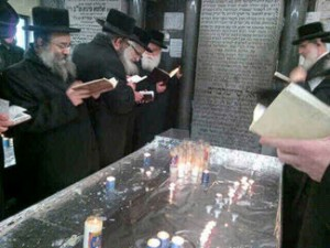 Belzer Delegation at Kiryas Yoel ohel.
