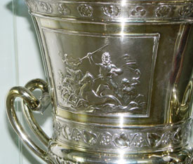Cup presented to Benjamin Norden in 1857. South African Jewish Museum, Cape Town. Photo: Menachem Wecker.