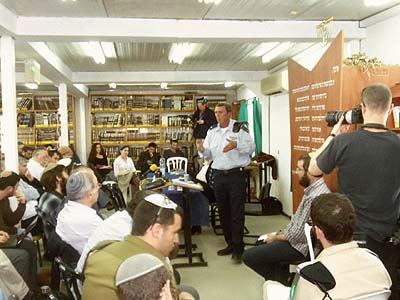 Brigadier General Rabbi Rafi Peretz at the Siach Yitzhak yeshiva in Gush Etzion.