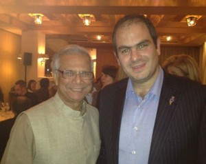 Eli Beer with Nobel Laureate Muhammad Yunus.