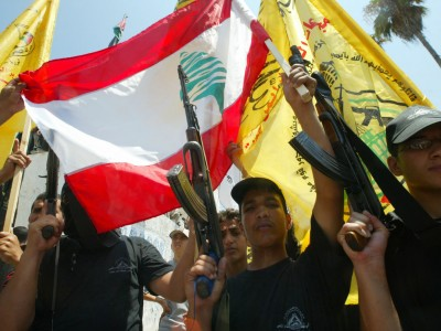 Demonstration by Hizbollah supporters