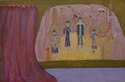 Spanish Inquisition – Voice of the Victims (2002), oil on canvas by Leah Ashkenazy