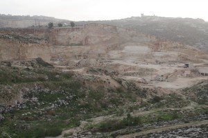 The site of a former illegal quarry in Judea and Samaria