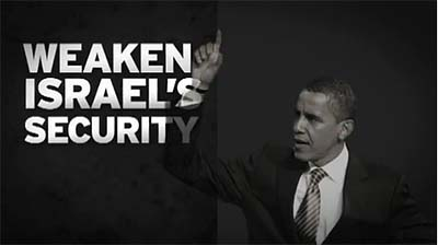 "The Republican Jewish Coalition (RJC) released an anti-Obama web ad titled ""Security."""