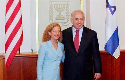 Rep. Debbie Wasserman Schultz with friend.
