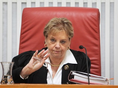 Retired Chief Justice Dorit Beinisch continues to preside over her unfisnished cases