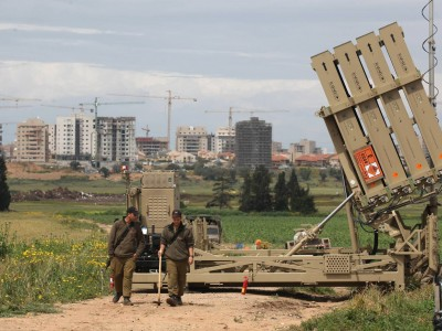 The Iron Dome deployed near the southern city of Ashkelon