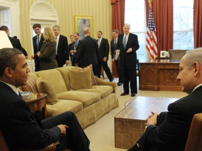 US President Barack Obama meets with Israeli PM Binyamin Netanyahu