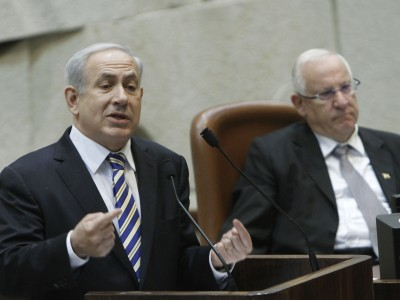 PM Binyamin Netanyahu speaking before the Knesset