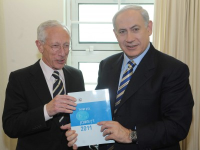 Bank of Israel Governor Stanley Fischer submits 2011 report to PM Binyamin Netanyahu