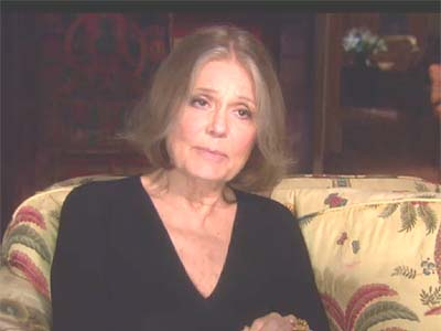Women's rights advocate Gloria Steinem.