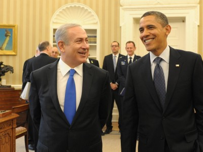 Israeli PM Binyamin Netanyahu meets with US president Barack Obama in the White House on March 5, 2012
