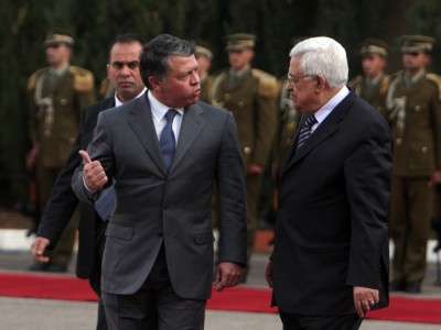 King Abdullah of Jordan with Palestinian Authority President Mahmoud Abbas