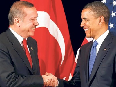 Turkish PM Erdogan and US President Barack Obama