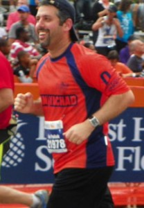 Rabbi Avi Pollak, Principal of Judaic Studies at Beren Academy, running with Team Yachad in honor of his sister Caryn, long time NY Yachad participant and employee.