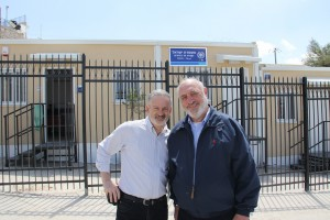 Harvey Schwartz and Jeff Daube of the International Committee for the Preservation of Har HaZeitim.