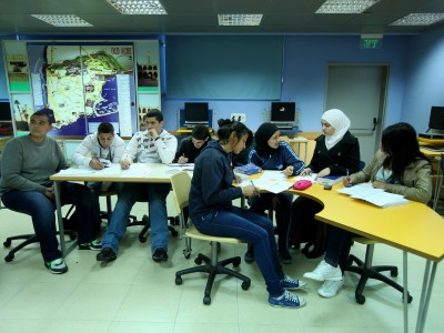 Israeli Arab students at school in Acco