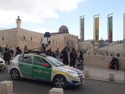 Google Street View Car, Old City Jerusalem