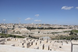 There are 150,000 Jewish tombs on the Mount of Olives, going back 3,000 years to the present day.