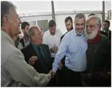Paul LaRudee meeting with Hamas leader Ismail Haniyeh