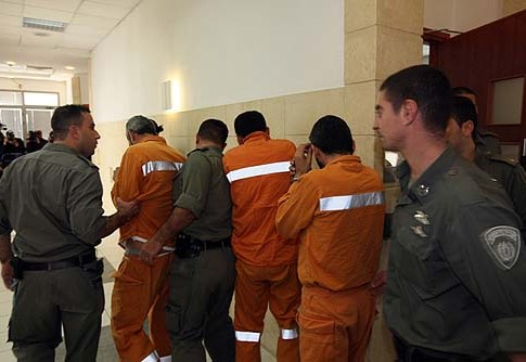 Palestinian terrorists who were picked up by the Israel Security Agency (Shin Bet) arrive at the Jerusalem District Court (illustration image).