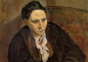 Portrait of Gertrude Stein by Pablo Picasso inside Metropolitan Museum of Art, New York City.