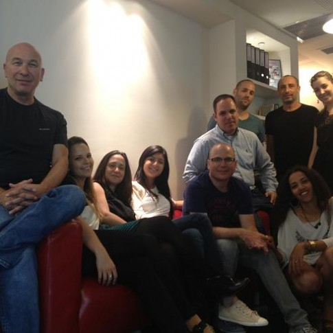 The team behind JobsMiner.com in the company's headquarters in Kiryat Ono, Israel.