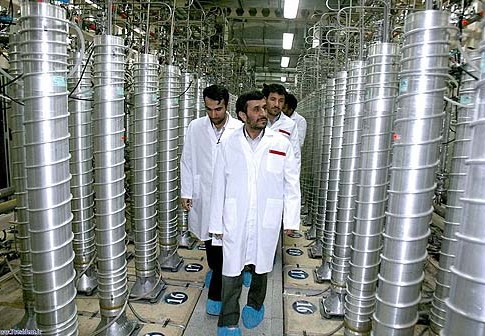 President Mahmoud Ahmadinejad reviewing one of Iran's nuclear plants.