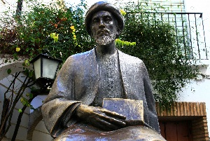 A statue of Rambam in Cordova, Spain
