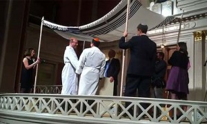 Orthodox-ordained Rabbi Steve Greenberg officiated at a same-sex wedding ceremony in DC.