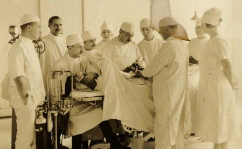 Surgery, Newark Beth Israel Hospital, early 20th century