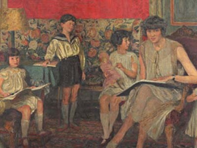 Edouard Vuillard: Madame Jean Bloch and Her Children, second version, 1930, reworked 1933 and 1934.