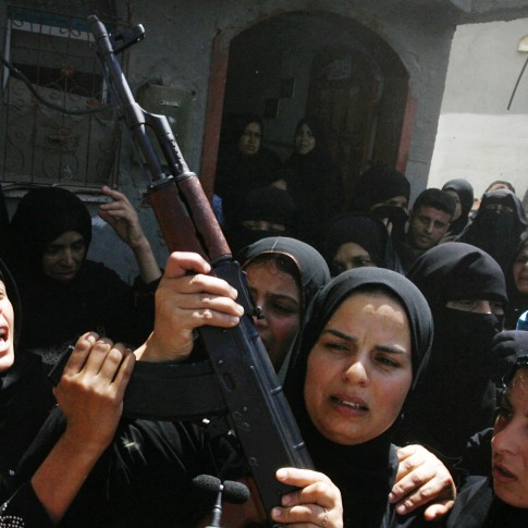 Palestinian women demonstrating