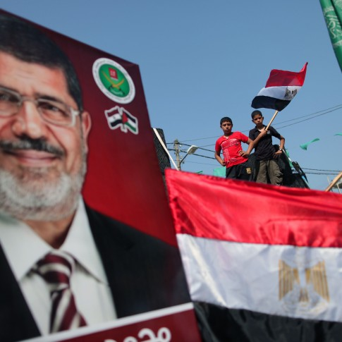 Presumptive Egyptian President, Mohammed Morsi of the Muslim Brotherhood