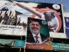Palestinians celebrate Mohammed Morsi's victory in Egypt's first democratic presidential election.