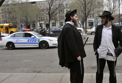 Ultra Orthodox Jews in Crown Heights, Brooklyn