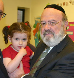 Rabbi Weinstein and a client