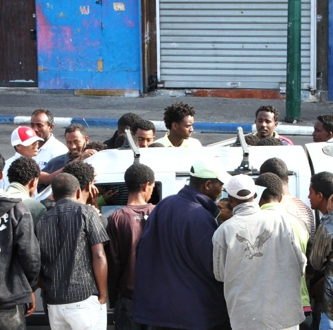 Sudanese and Eritreans getting picked up as cheap labor in South Tel Aviv