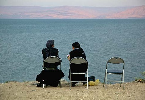 Sunbathing by the Sea of Galilee