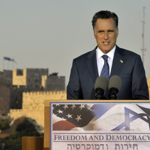 Mitt Romney in Jerusalem