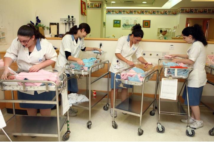 Maternity ward in Jerusalem Hospital