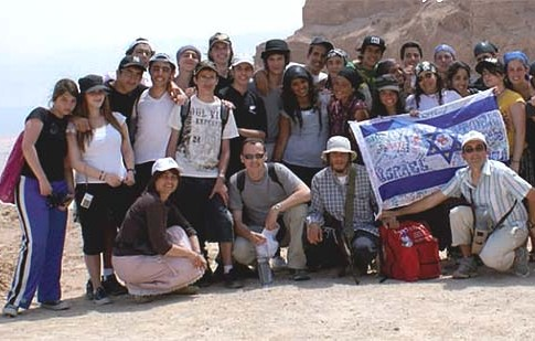 Ozar Hatorah students during a trip to Israel a few years ago.