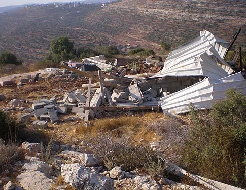 Destruction left behind in Givat Egoz.