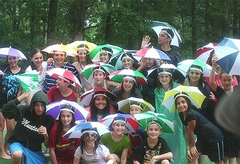 Rainy day in Camp Darom, where some 60 Orthodox kids from the South get to experience the outdoors in a majority-Jewish environment.