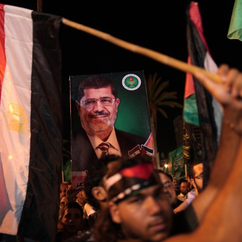 Supporters of Muslim Brotherhood President Mohamed Mursi